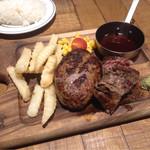 肉が旨いカフェ NICKSTOCK - 熟成牛ハンバーグ&ステーキ