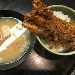 眺望亭 川忠 - 蟹汁と穴子天丼