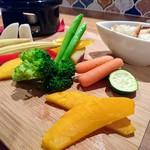 73453627 - チーズフォンデュのお野菜です!