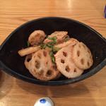 旬菜 すがや - 料理写真:レンコンの明太子炒り