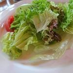 紙ひこうき - セットのサラダ