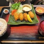 大戸屋 - 広島産カキフライ定食(4個)