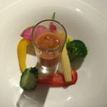 リゾートイタリアン・ムゼット - 料理写真:ガスパチョの生野菜サラダ