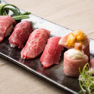 鮮度抜群A5ランク神戸牛、伊賀牛、近江牛が1度に、贅沢に。