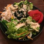 珈琲 豆三郎 - サラダ♪ 大量のお野菜