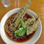 長命うどん - 料理写真:中華そばコロwithなす天、さかな天
