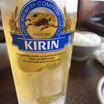 亀八食堂 - 生ビール(中)