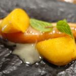 Maison de h-l'E´ridan - サーモンと柿