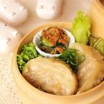 お野菜小皿料理のワインバル KiboKo - 蒸しキムチギョーザ