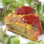 お野菜小皿料理のワインバル KiboKo - かぼちゃのスパニッシュオムレツ