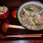Sojibou - あさりと春野菜のそば定食