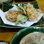 蕎仙 - 生桜えび天婦羅と盛り蕎麦 1,600円