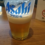 四川麺匠 炎 - 生ビール(一杯目)