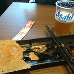 四川麺匠 炎 - 羽根つき餃子(ビール3杯目)