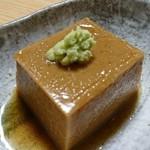 73495980 - ふるっふるのゴマ豆腐。注文マスト