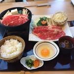 源氏総本店 - 国産牛すき焼き膳、驚きのCPです。1382円とは       とても信じられません。