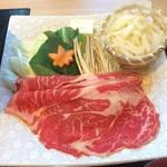 源氏総本店 - 別皿には、もう一回分がうどんと共に有りました。