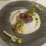 四間道レストランMATSUURA - 鰹と焼き茄子のテリーヌ