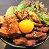 秋の三種肉盛り丼(スープ付)