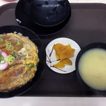 えびつラーメンセンター - カツ丼(貝汁付)690円