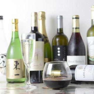 ◆焼酎、日本酒、旬のワインまで角うち価格で気軽にどうぞ◆