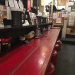 牡丹 - 店内(カウンター席)