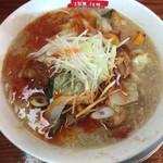 滋魂 - 限定麺『蛎油鶏麻辣麺』 (ハオユーチーマーラーメン )880円