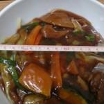 スタミナラーメン 一伸 - スタミナ冷やし(普通盛)760円 丼の直径19cm