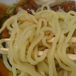 スタミナラーメン 一伸 - スタミナ冷やし(普通盛)760円 麺アップ