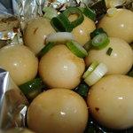 千代村 - 料理写真:うずら卵ホイル蒸し
