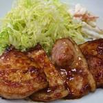 お食事処 さと - モチ豚生姜焼き定食