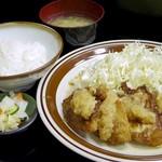 お食事処 さと - モチ豚おろしポン酢定食