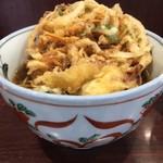 73510856 - かき揚げ蕎麦+鶏天一ケ