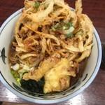73510859 - かき揚げ蕎麦+鶏天一ケ