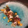 代官山 RINGRAZIARE KOJI MORITA - 料理写真:北海道産真つぶ貝のマリネ、沖縄産パッションフルーツのソース