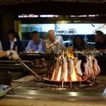 陸蒸気 - 囲炉裏の炭火焼