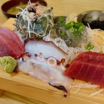 磯料理 魚の「カネあ」 - 刺身定食(上)