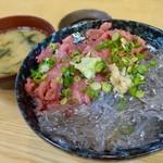 磯料理 魚の「カネあ」 - 生しらす・ネギトロ丼