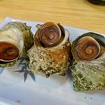 磯料理 魚の「カネあ」 - サザエ壷焼き