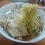 俺系らーめん 藤本 - ピラピラ太麺
