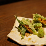 ぽんしゅや 三徳六味 - うに天ぷら美味い