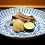 豪龍久保 - 秋刀魚の備長炭焼き(古染付)