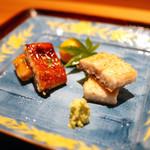 豪龍久保 - 天然鰻(霞ヶ浦)の白焼きと蒲焼