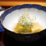 豪龍久保 - 炊合 山科茄子と海老芋、粟麩