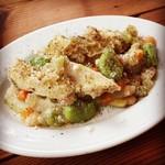 オステリア・ウネット - トリッパとお豆のサラダ。オススメです。