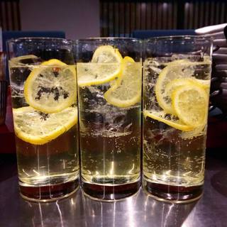 人気の自家製レモンサワー
