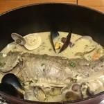73526267 - 魚まるごと一匹 アクアパッツァ イサギ