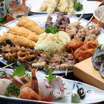 居酒屋 利根 - 人気メニューに旬の味わいを添えたコース料理。飲み放題も好評