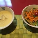 ダニーズレストラン - スープとサラダ