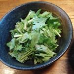 担々麺 無坊 - パクチー